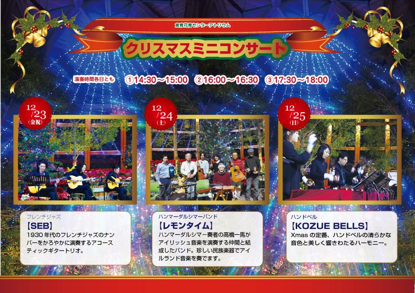 【クリスマスミニコンサート】食育・花育センター
