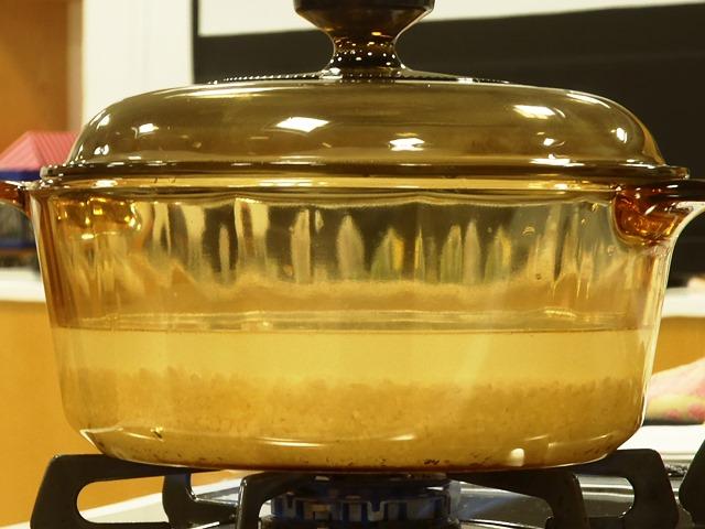 団体プログラム「ガラス鍋でごはんを炊こう!」