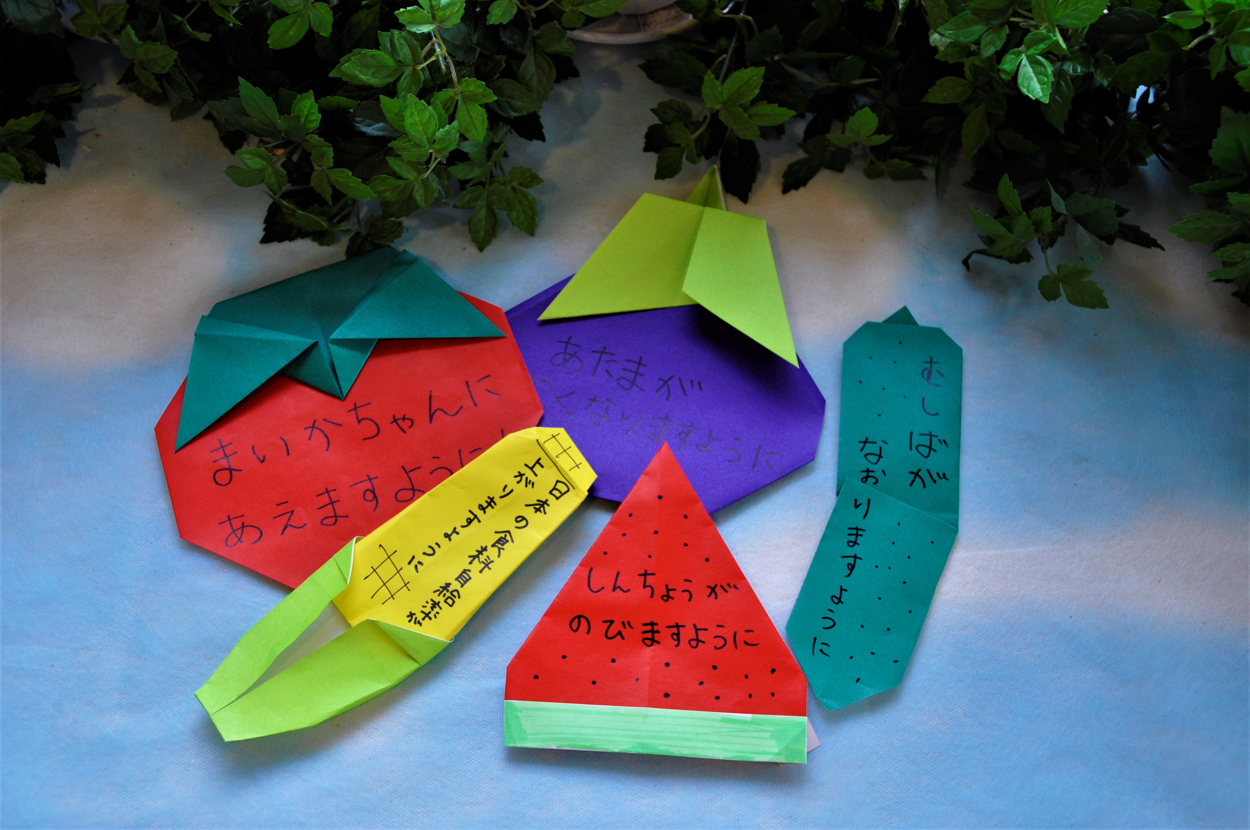 【七夕かざりを飾ろう!!】食育・花育センターアトリウム