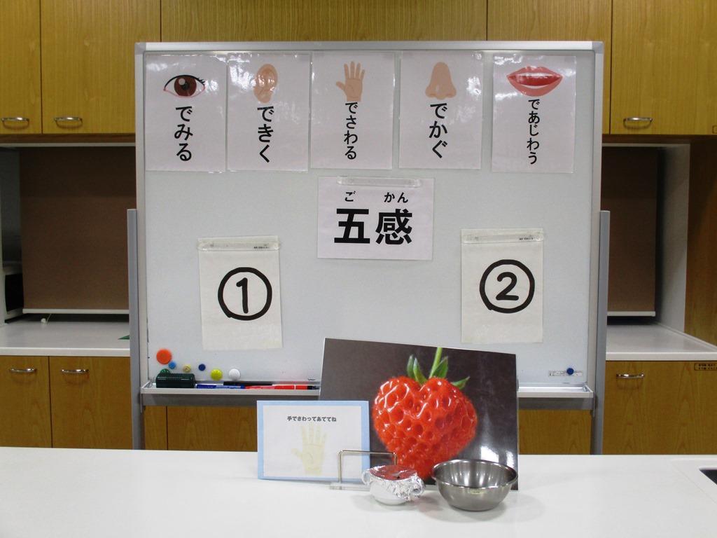 食育ランド「五感を使った食材当てクイズ」
