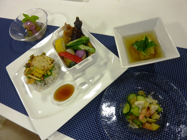 料理教室 「夏茄子でひんやり涼味ごはん」を開催しました。