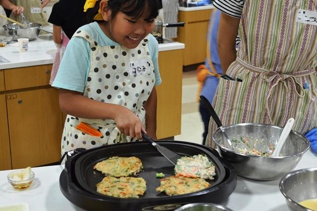 料理教室 「米粉で作る 夏のチヂミとクレープ」を開催しました.