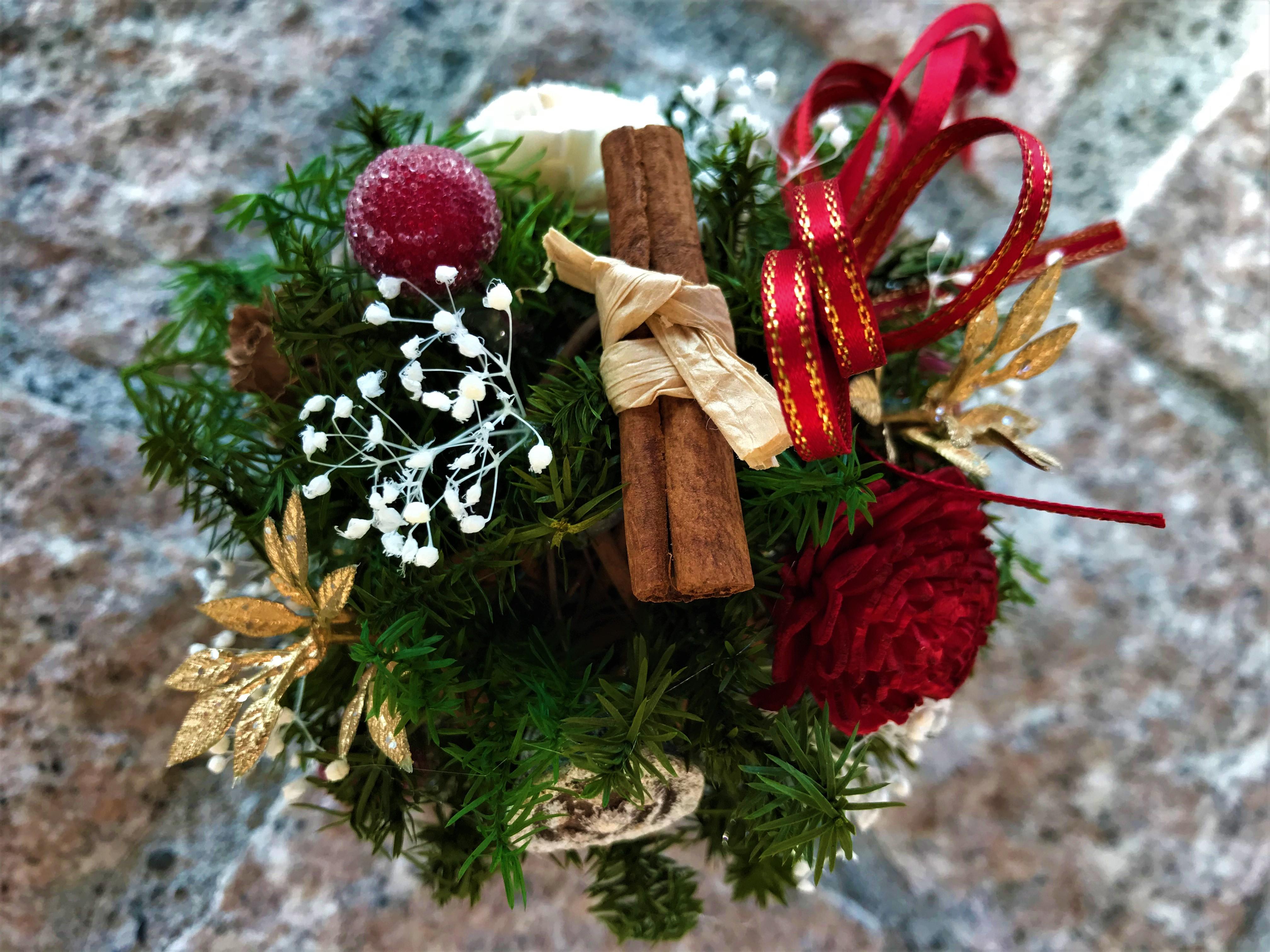 花育体験【クリスマスフラワーボール】いくとぴあ食花クリスマスフェスタ