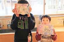 館長メモリーⅨ  新潟市出身の日本画家近藤幸夫さんと「親子de本格日本画を描こう!」参観記