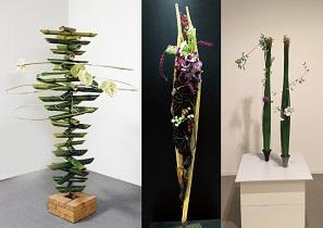 フラワーアーティスト「まるやまはるえ氏」による作品展示