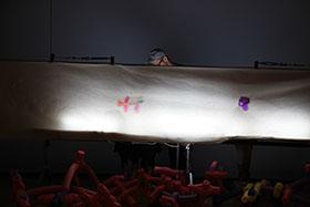 新潟絵屋連携アーティスト企画「不思議な生物をつくって影絵であそぼう」