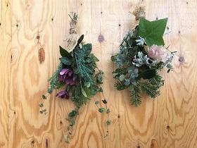 春いくフェスタの花育ランド【季節の植物を使ったミニスワッグ作り体験】