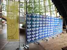 食育・花育センター長@参観記Ⅲ -にいがた花絵プロジェクト デザイン画がアトリウムに-