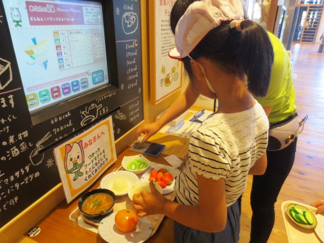 団体プログラム「食品サンプルを使って食事バランスをチェックしよう」
