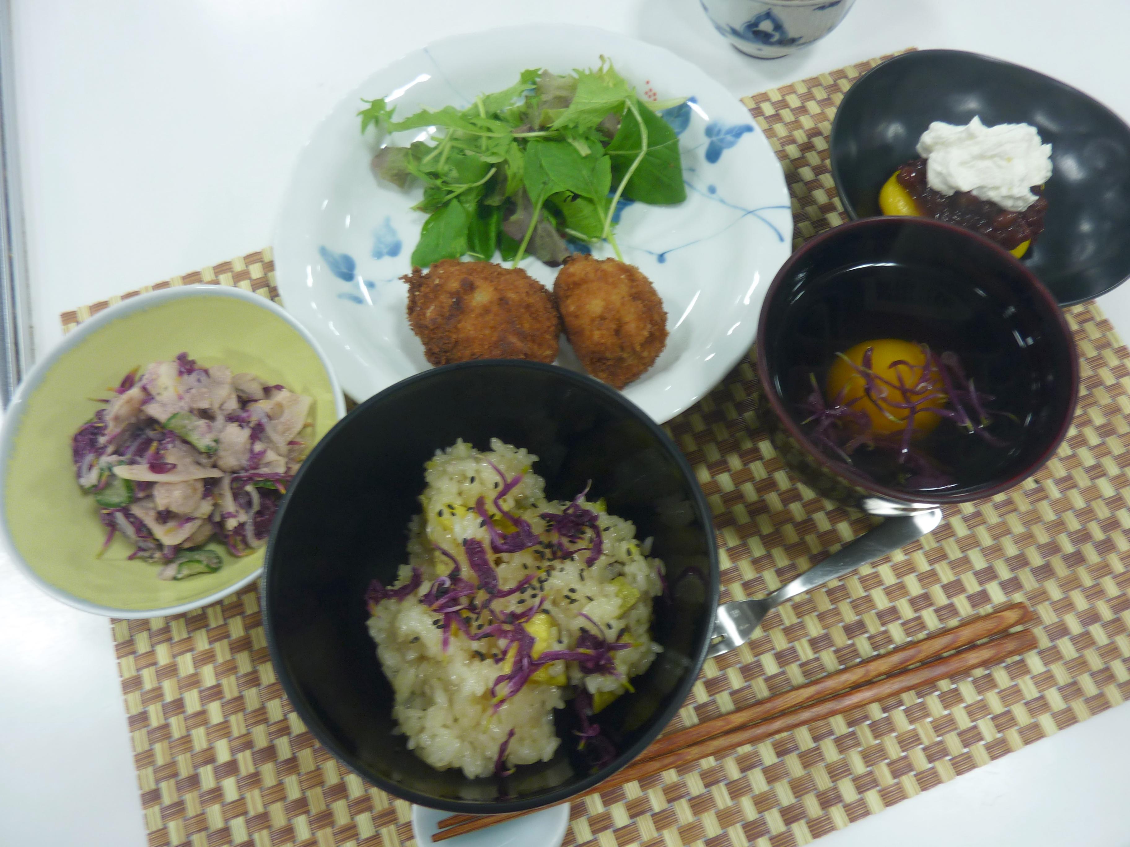 お料理教室「片桐先生の秋を楽しむ家庭料理」
