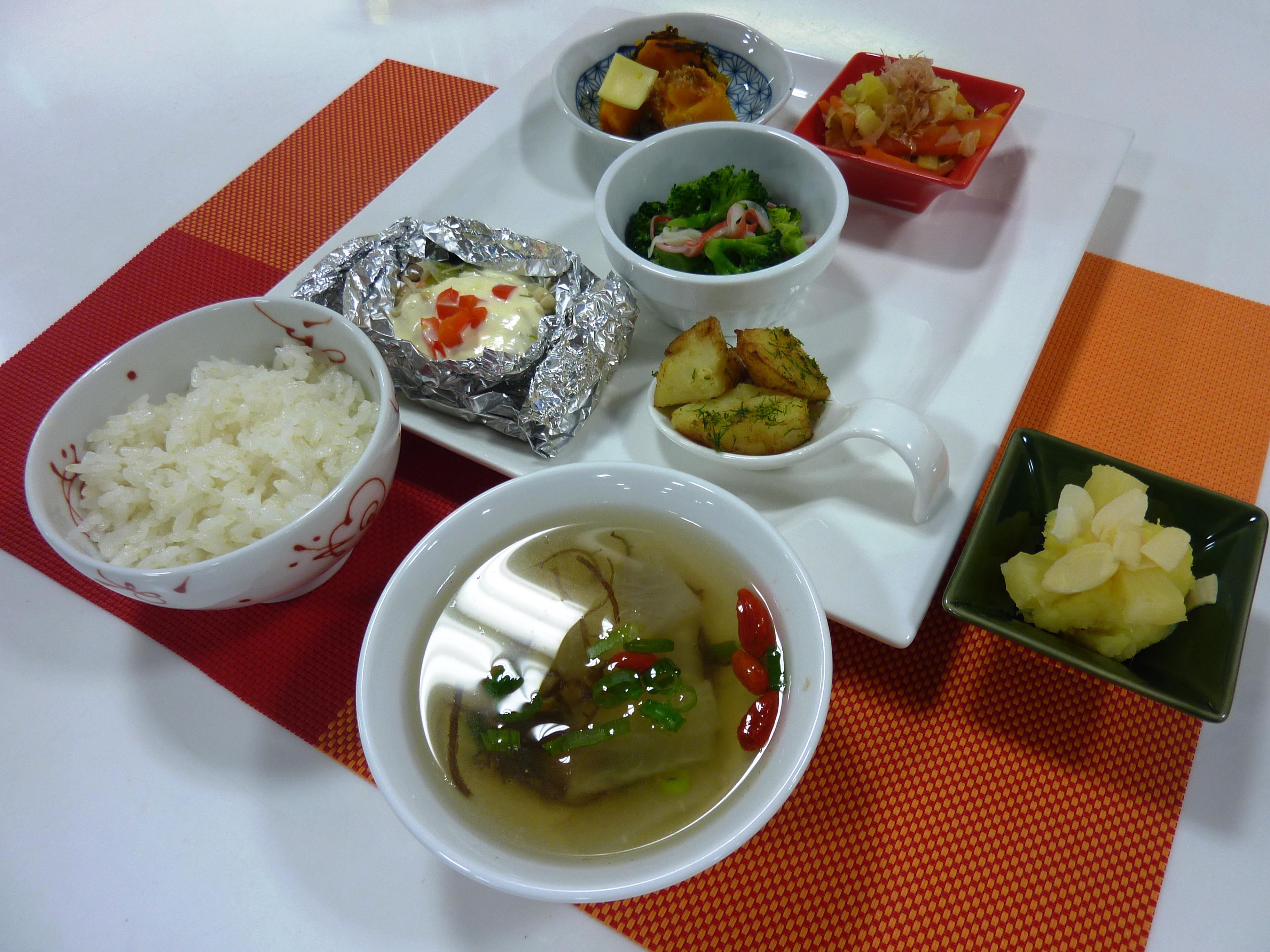 お料理教室「おいしい時短料理と運動」