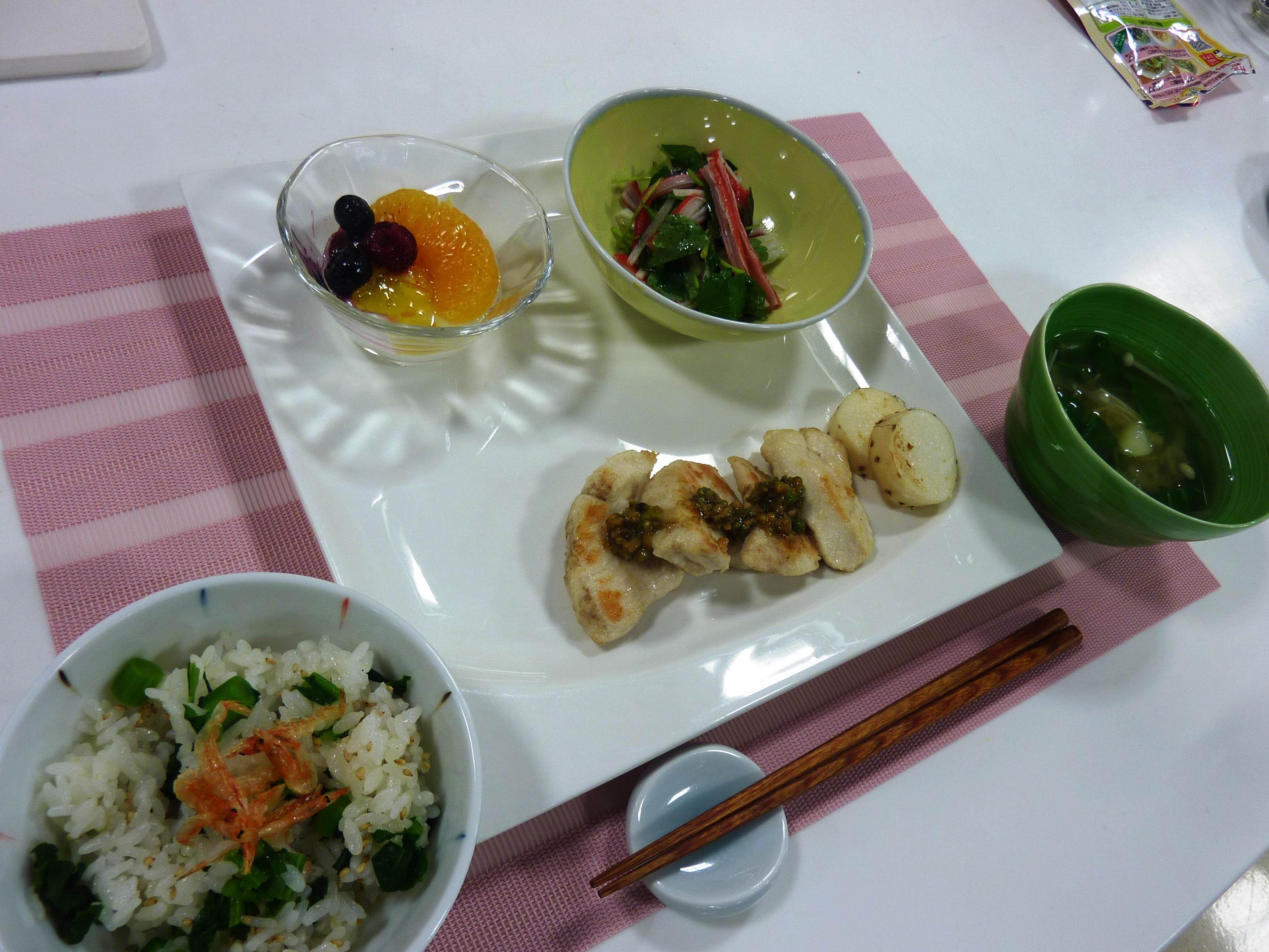 お料理教室「身体めざめる春レシピ」