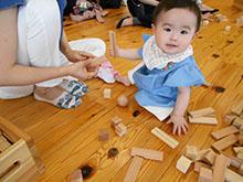 5/22「はじめての木育~ふれよう!ひろげよう!つみき体験~」を開催いたしました。