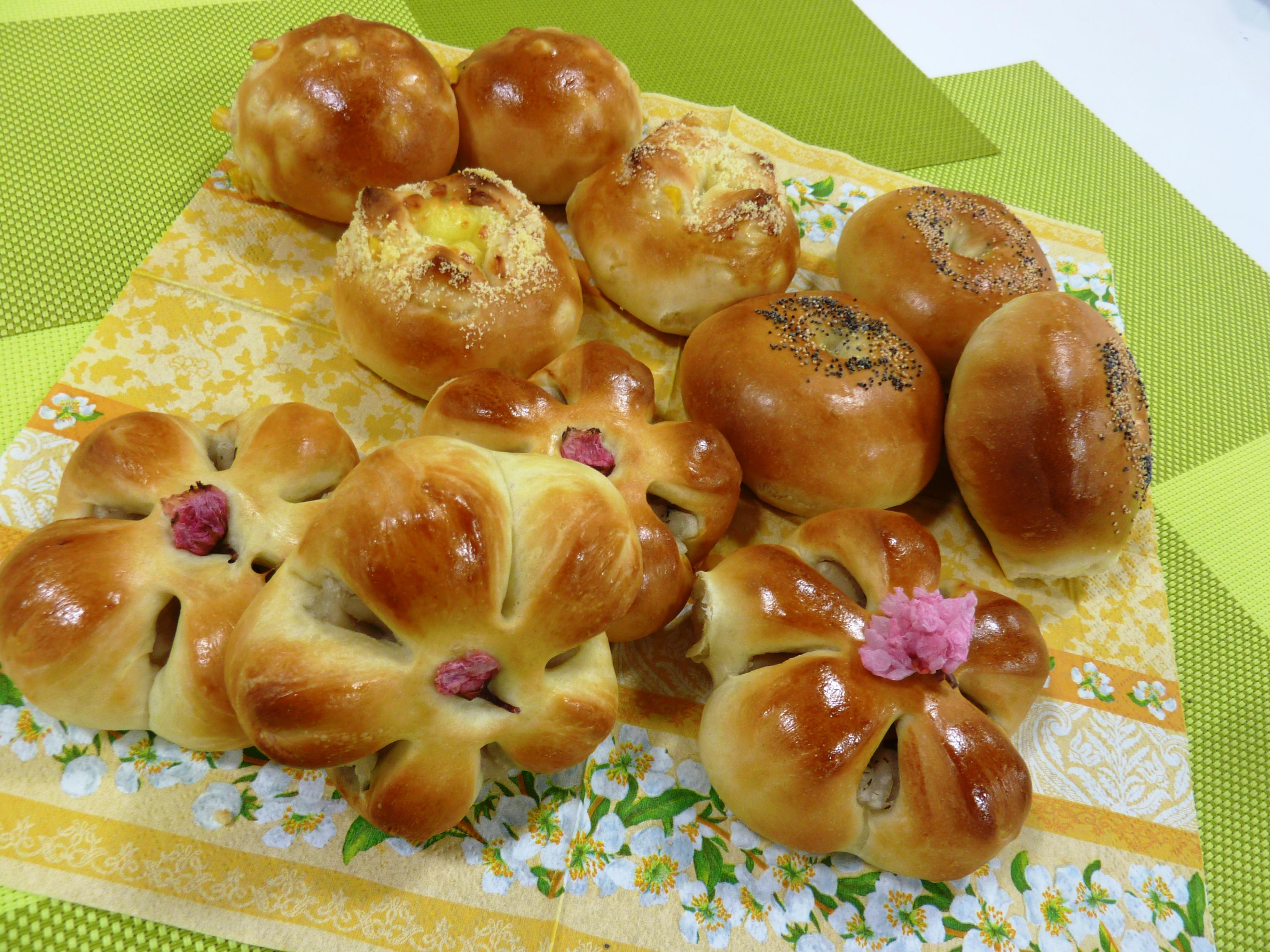 お料理教室「春の手ごねパン」
