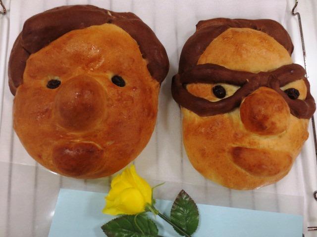お料理教室「父の日に贈る似顔絵パン」