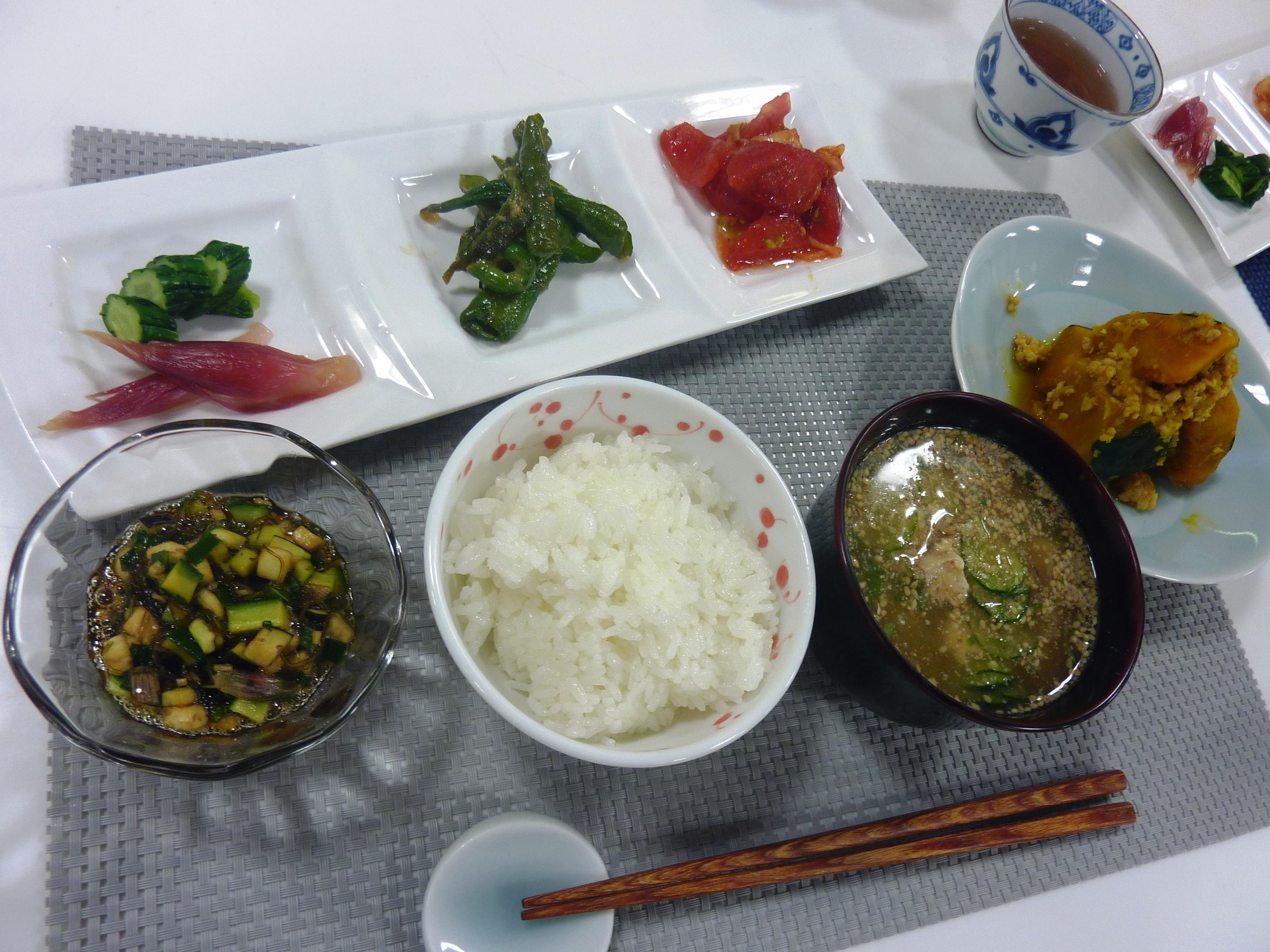 お料理教室「四季の暮らし ~夏の野菜料理~」