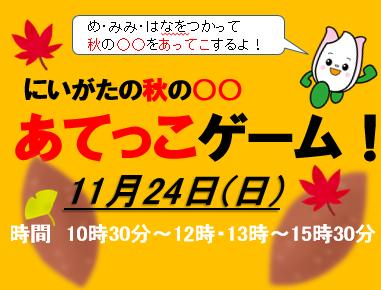 秋の 〇〇 あてっこゲーム!