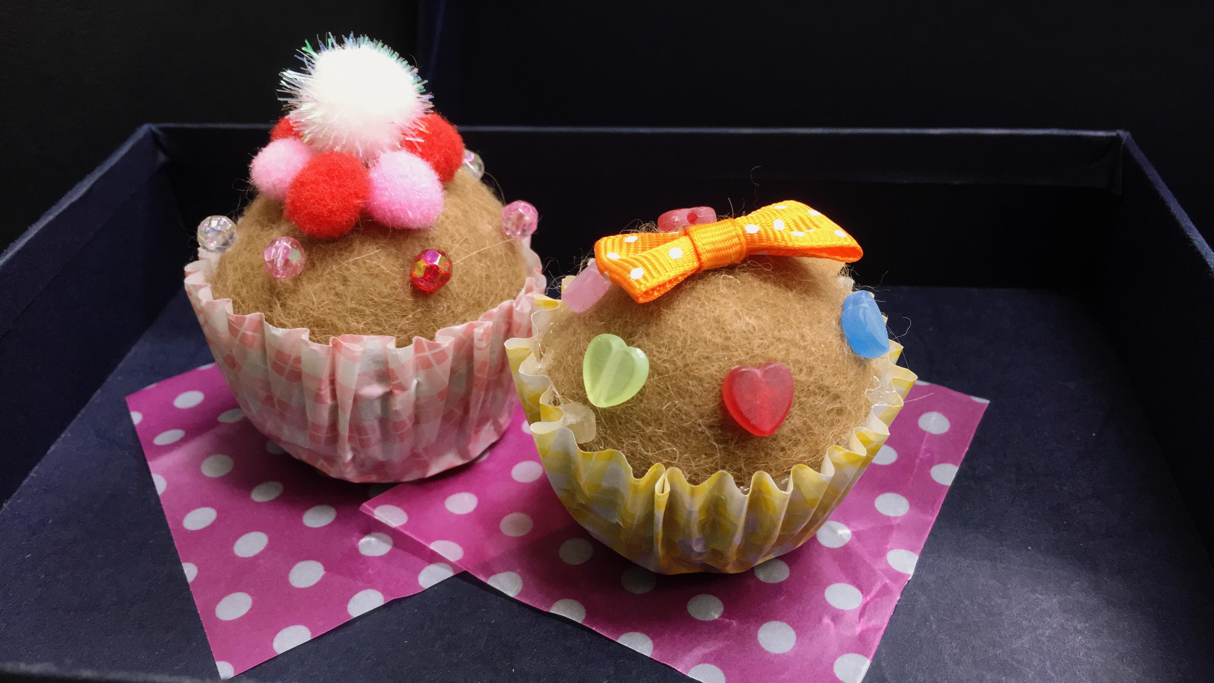 アルパカの毛で作る~もこもこカップケーキ作り~