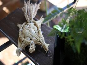 花育体験「稲で亀を作ろう!」