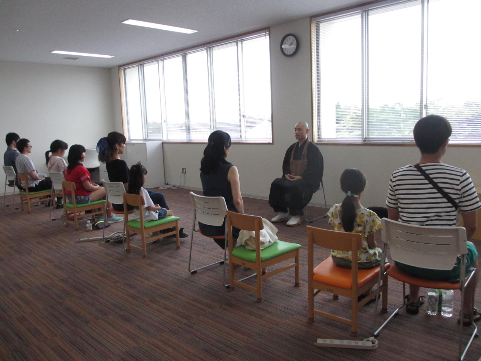 親子いす坐禅会(11月)