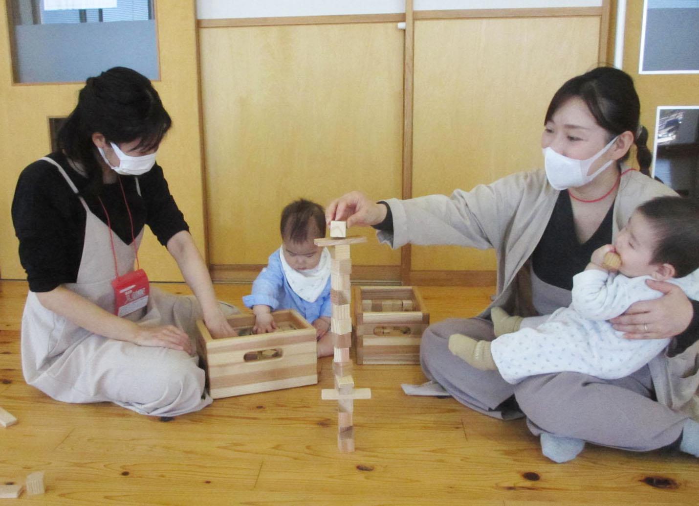4/21「はじめての木育forBaby~つみきあそびとおもちゃのこと~」