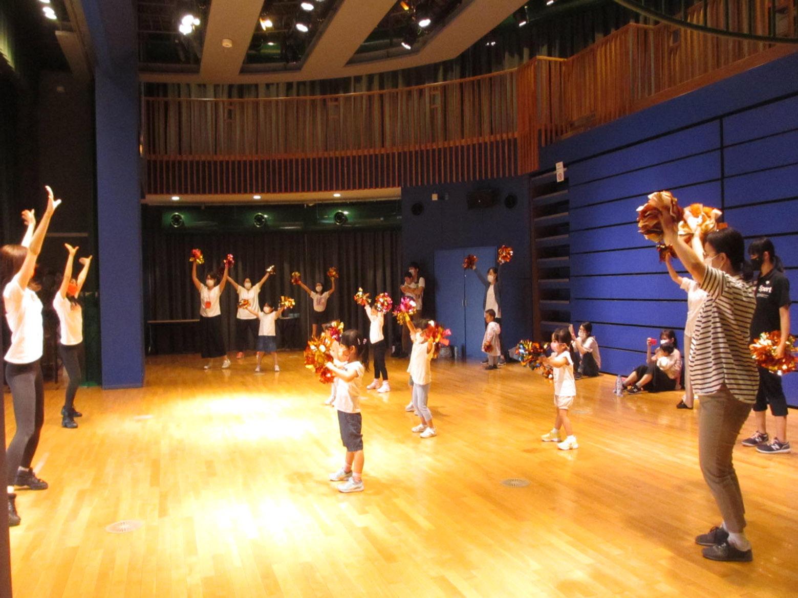 9/18「あるチア訪問隊★親子チアダンス教室」開催しました!